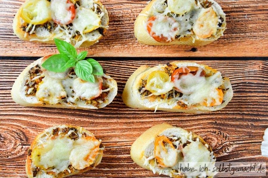 Bruschetta frisch aus dem Ofen