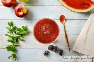 Fruchtiger Melone Minze Smoothie