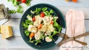 Selbstgemachte Gnocchi mit Parmaschinken und Gorgonzola