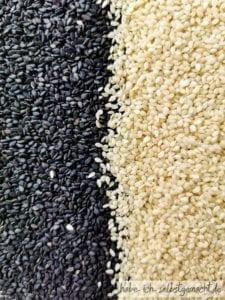 Schwarzer und gelber Sesam