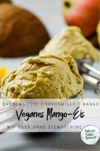 Veganes Mangoeis Pinterest Flyer