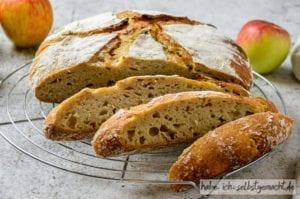Apfel-Calvados-Kruste mit Sauerteig