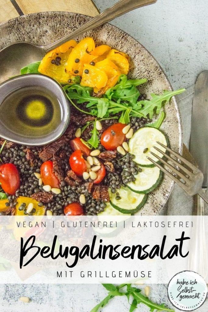 Belugalinsensalat mit Grillgemüse