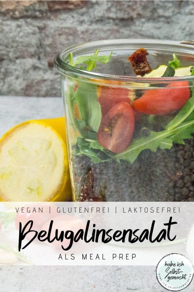 Belugalinsensalat als Meal Prep
