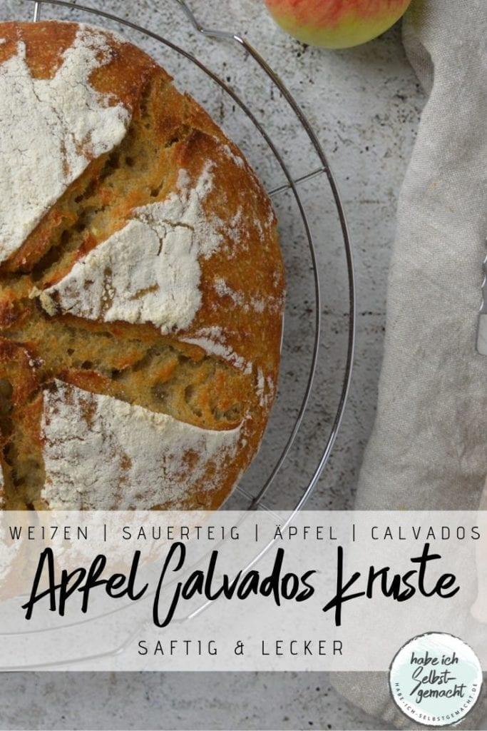 Apfel Calvados Kruste Brot