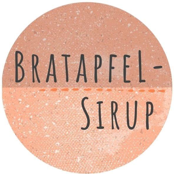Etikett Bratapfelsirup
