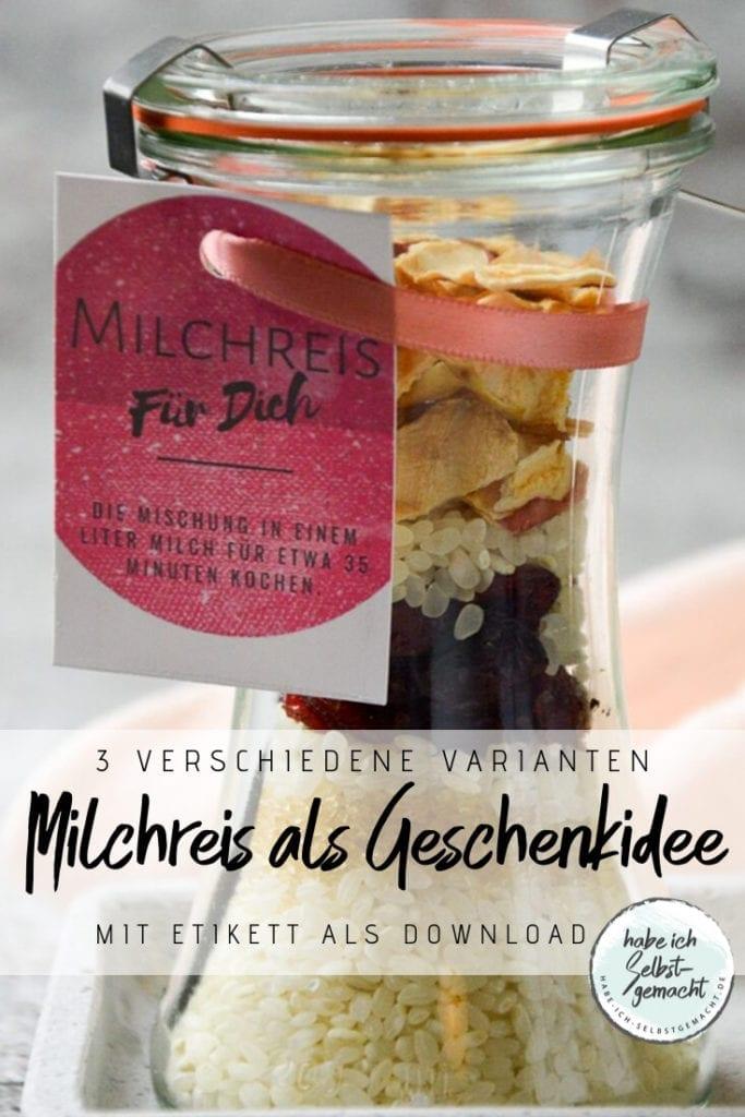 Milchreis als Geschenkidee