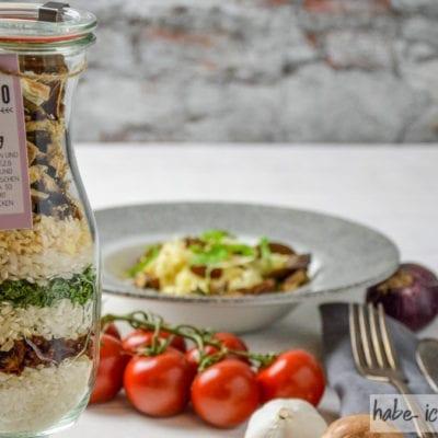 Risotto Mix im Glas als Geschenk aus der Küche