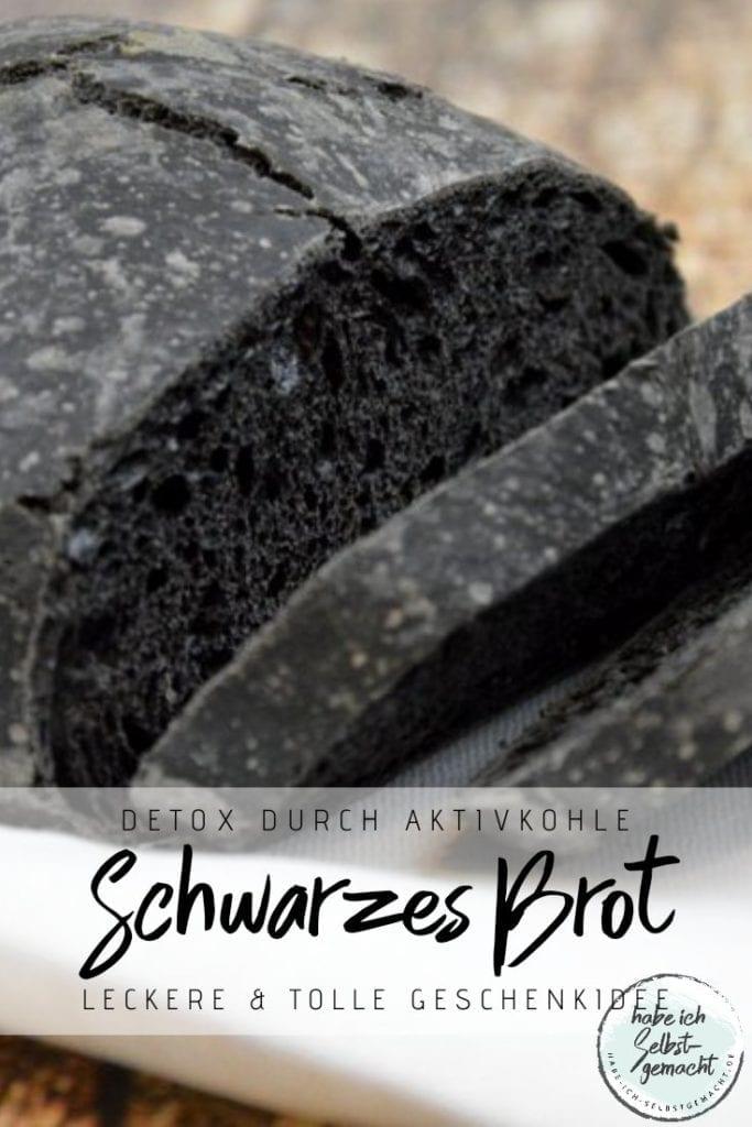 Schwarzes Brot mit Aktivkohle