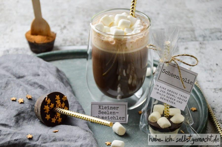 Heiße Schokolade am Stiel