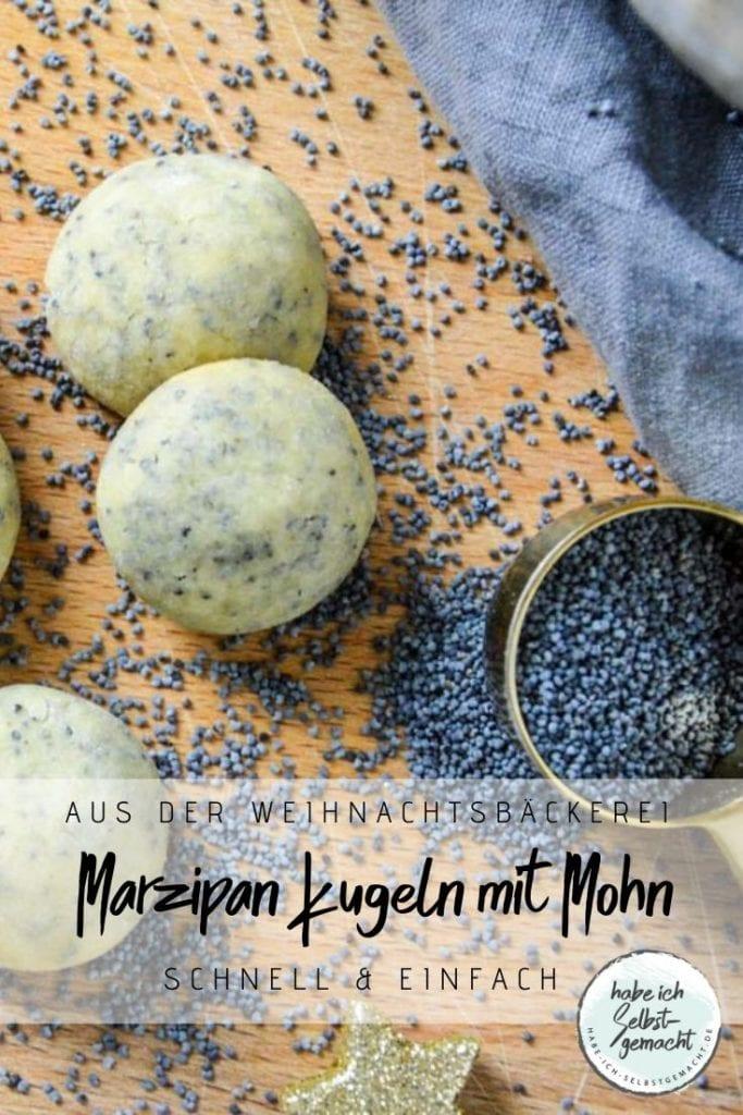 Marzipan-Mohn Kugeln