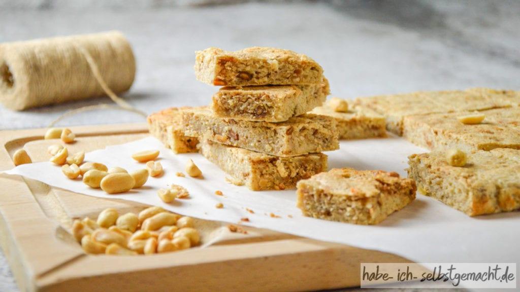 Erdnuss Protein Riegel