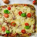 Low Carb Spinat Pizza