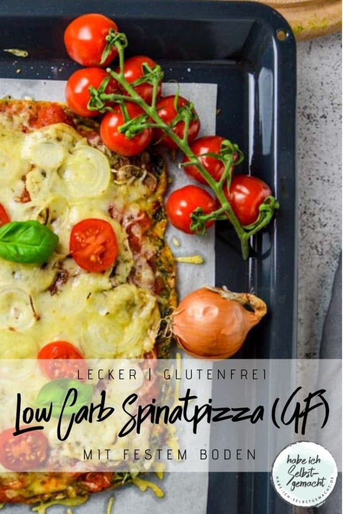 Low Carb Spinatpizza