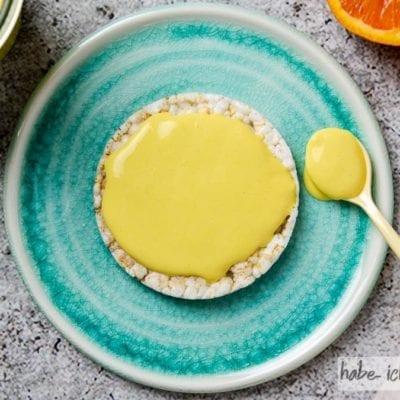Veganes Orangen Curd im Vitamix