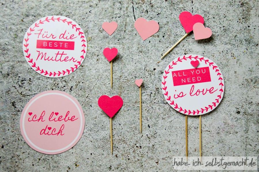 Cake Topper Valentinstag oder Muttertag