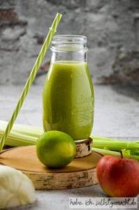 Jeden Tag Fitness Smoothie Sellerie Fenchel Gurke und Apfel
