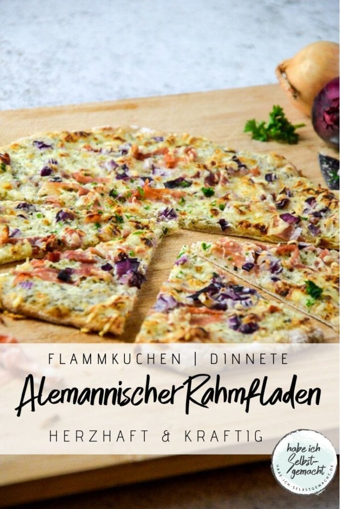 Alemannischer Rahmfladen Flammkuchen Dinnete