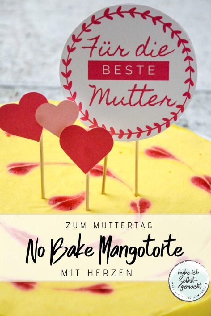 No Bake Mangotorte zum Valentins- oder Muttertag