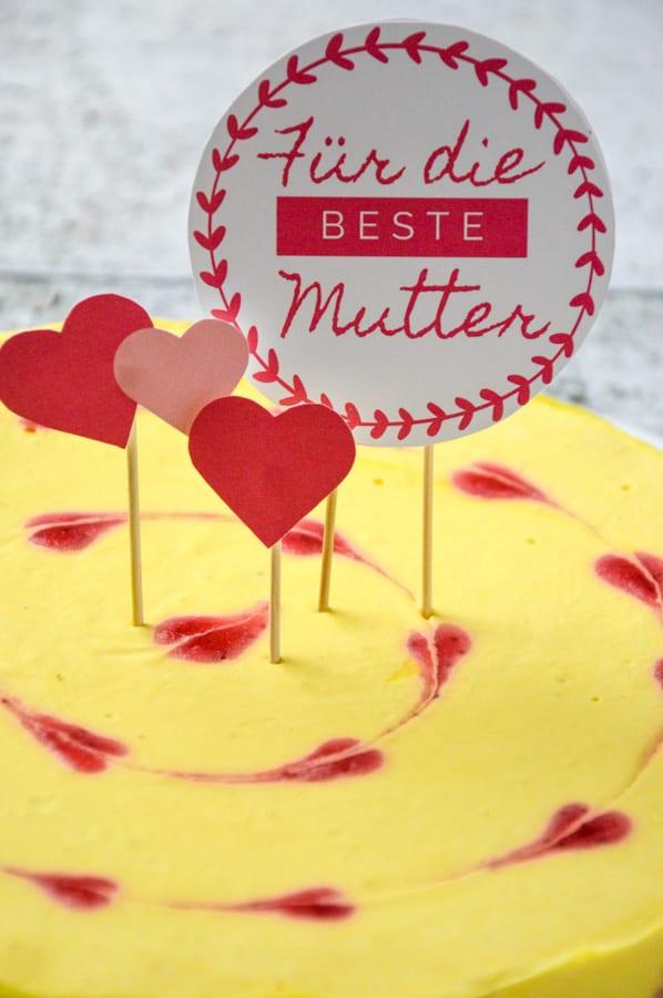 No Bake Mangotorte zum Vanentinstag oder Muttertag