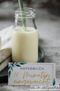 Hafermilch selbermachen