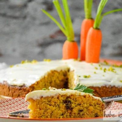 Karottenkuchen auch als Backmischung