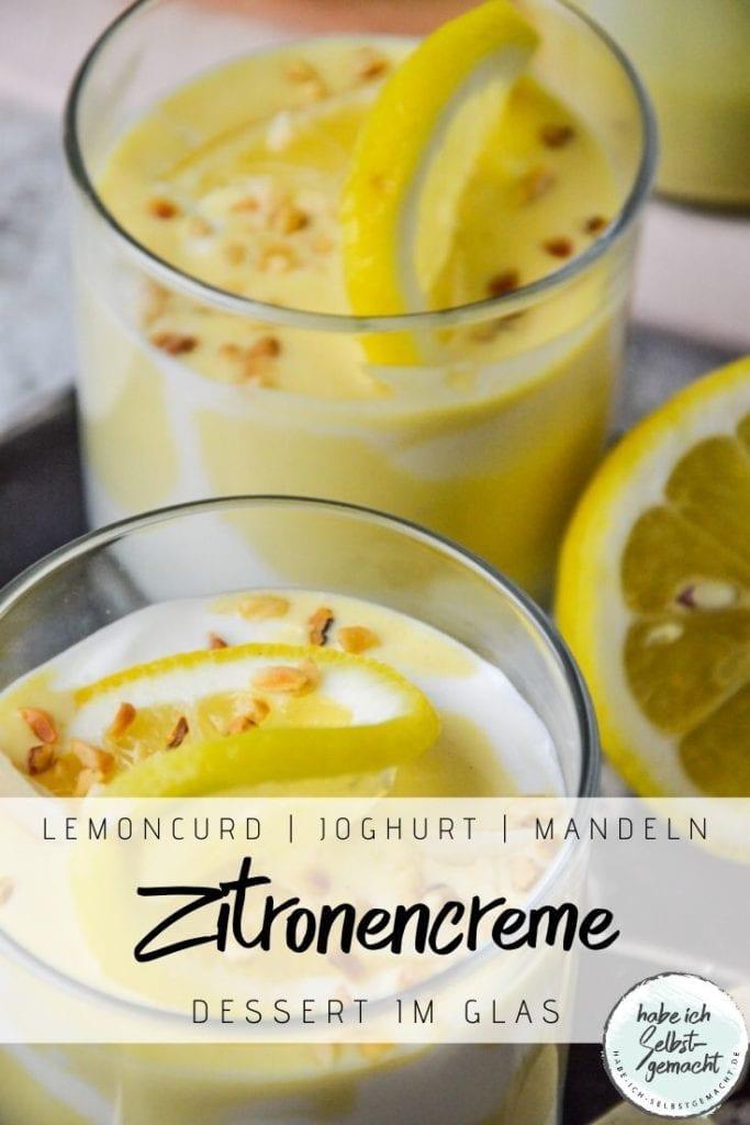 Zitronencreme im Glas