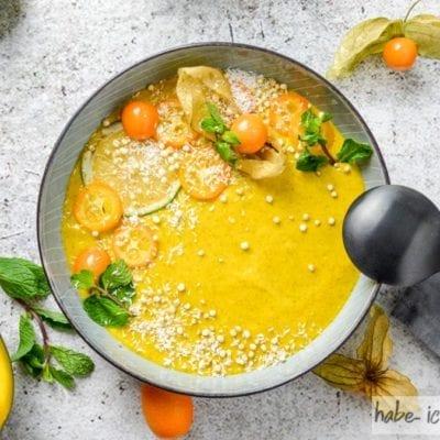 Vegane Mangobowl