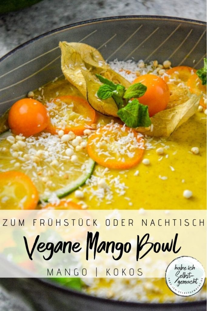 Vegane Mango Smoothie Bowl
