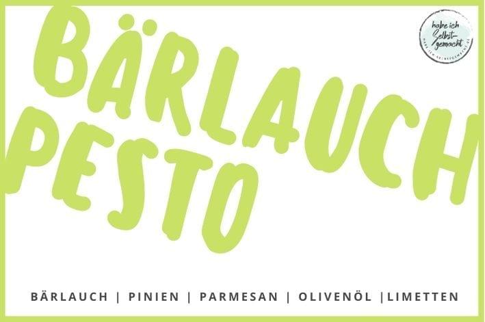 Etikett für Bärlauch Pesto