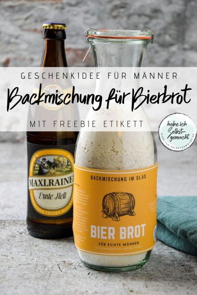 Bierbrot als Backmischung im Glas