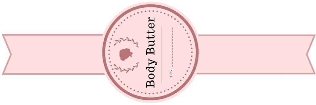 Etikett für die Bodybutter