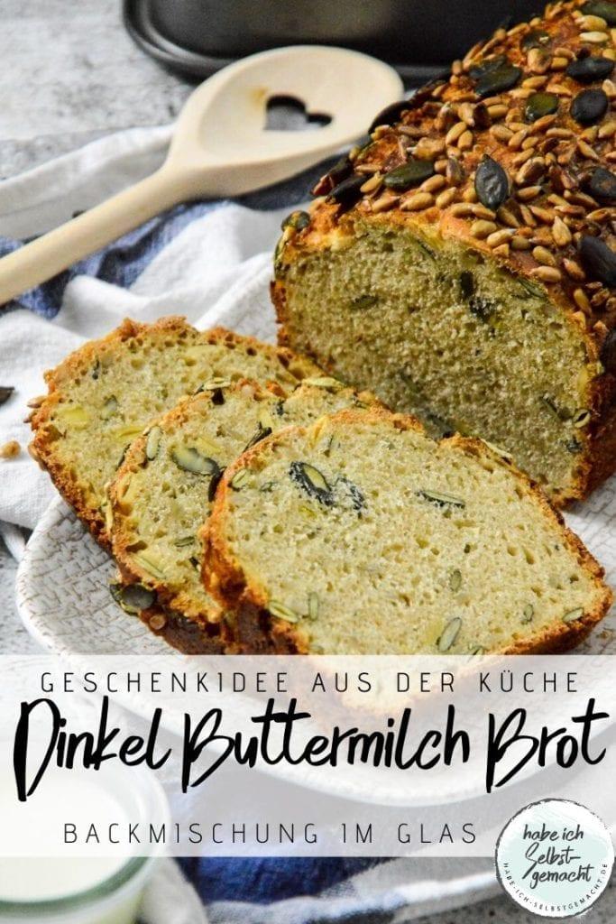 Dinkel Buttermilch Brot als Backmischung im Glas