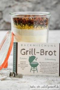 DIY Grillpaket - Backmischung im Glas für Grillbrot