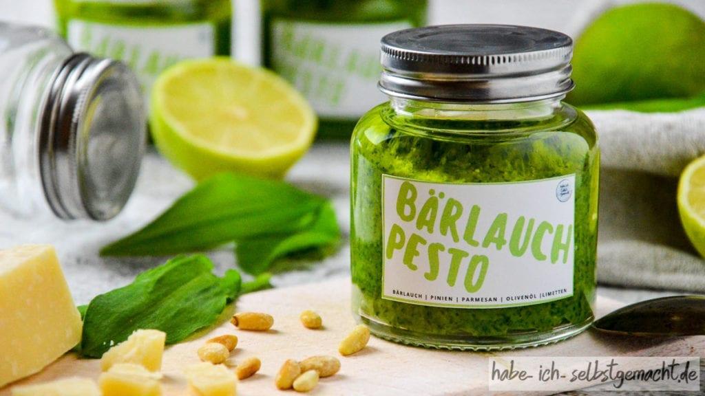 Selbstgemachtes Bärlauch Pesto
