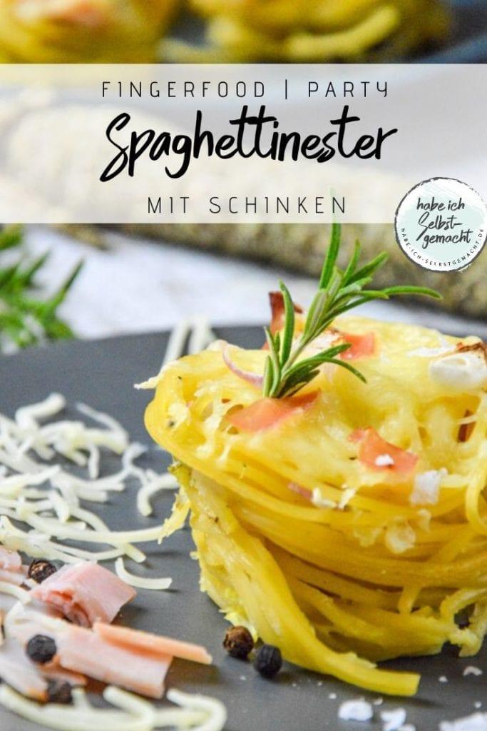Spaghettinester Fingerfood