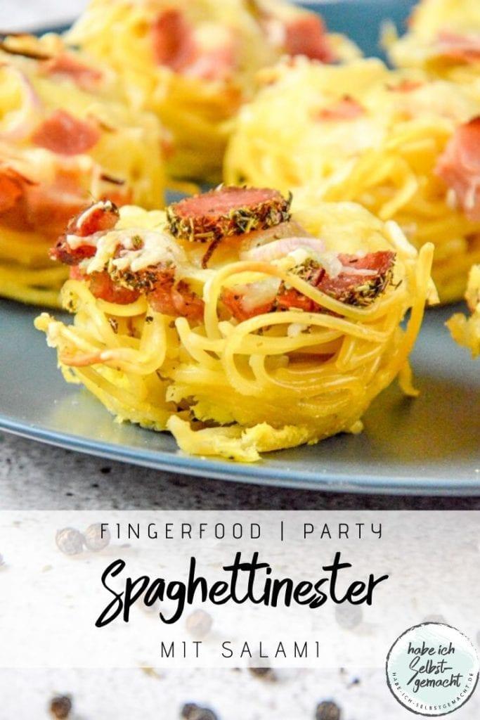 Spaghettinester aus der Muffinform