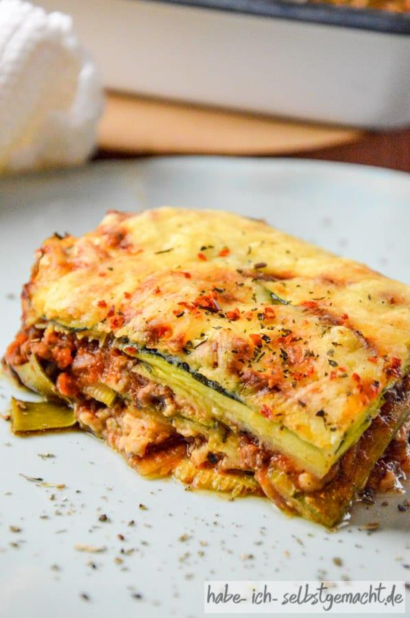 Low Carb Zucchini Lasagne