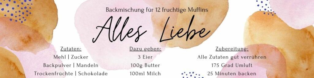 Blaubeer Muffins Etikett Alles Liebe