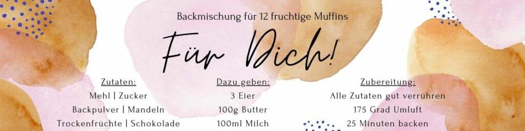 Blaubeer Muffins Etikett Für Dich