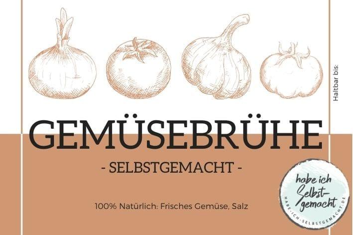 Gemüsebrühe Etikett