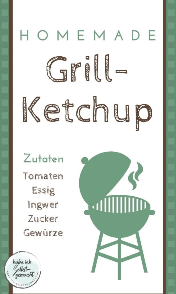Etikett für Ketchup