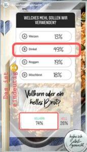 Instagram Wunschbrot Umfrage