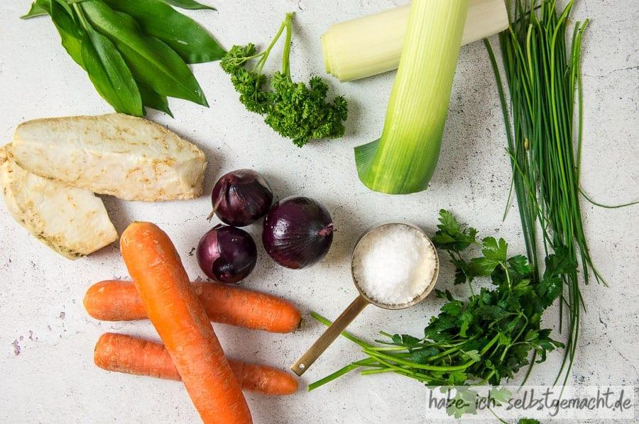 Suppengemüse für die selbstgemachte Gemüsebrühe