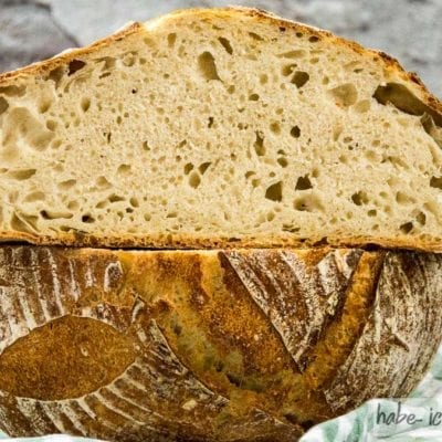 Brot #9 – Klassisches Weizen Sauerteigbrot