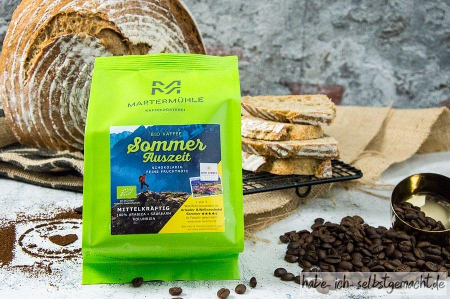 Kaffee 'Sommer Auszeit' der Kaffeemanufaktur Martermühle