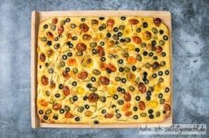 Focaccia italienisches Brot