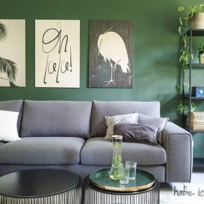 Posterlounge: Wohnzimmer im Urban Jungle Look