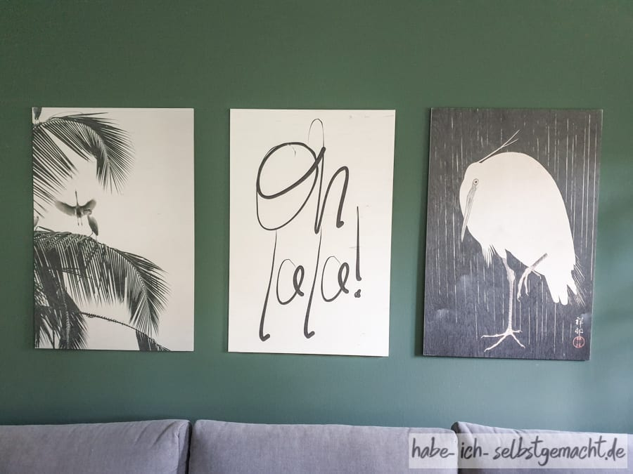 Gästezimmer mit Posterlounge Bildern
