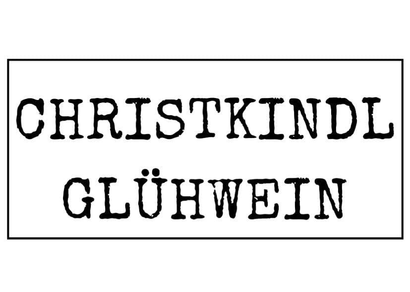 Etikett Christkindl Glühwein